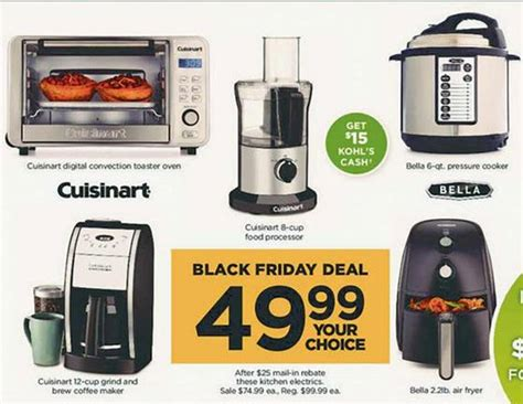 jcpenney rebate form for waffle maker kohls black friday is live kitchen appliances ea with