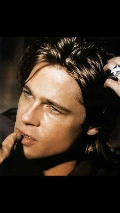 Brad Pitt Straight Brown Hair Blue Eyes Before