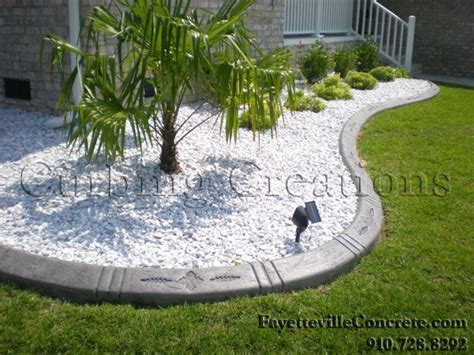 white landscaping rock garden decorative