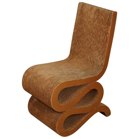 1972 frank gehry cardboard quot wiggle chair quot at 1stdibs