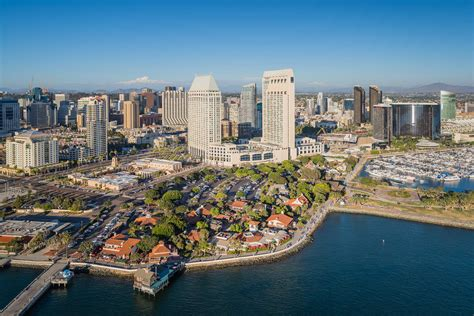 Seaport Village San Diego Downtown Waterfront Aerial