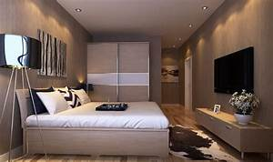 master bedroom interior design with tv wall and wardrobe With interior design bedroom 3x3