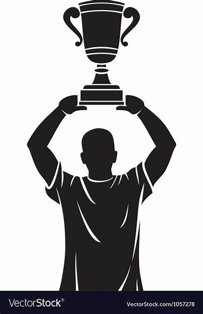 Trophy Champion Lifting Vector Player Royalty Vectorstock