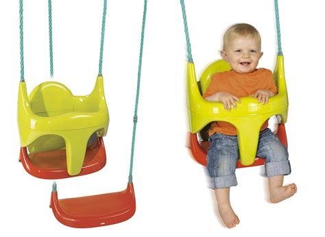 sieges bebe siège balançoire pour bébé 2 en 1 smoby jardideco