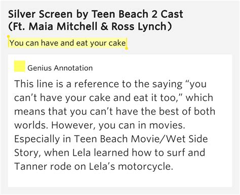 eat  cake silver screen lyrics meaning