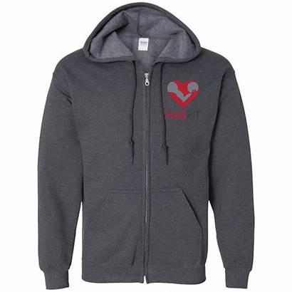 Hooded Zip Hasfit Sweatshirt Sweatshirts Embroidered