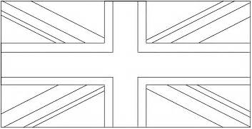 Union Jack Flag Outline Coloring Pages