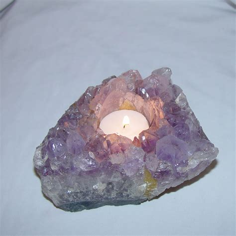 quartz candle holder amethyst cluster purple candle holder from brazil