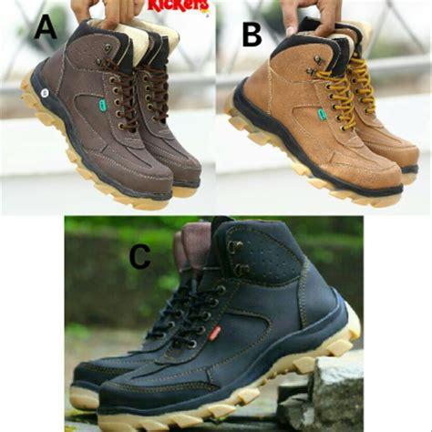 jual sepatu boots pria kickers new safety di lapak toko