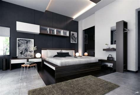 chambre noir déco noir et blanc chambre à coucher 25 exemples élégants