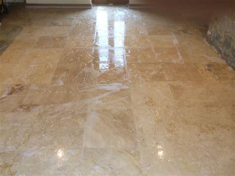 sealer problems resolved on travetine floor tiles