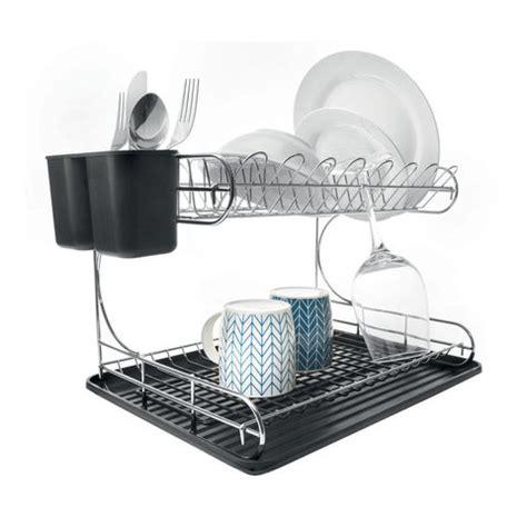 2 tier dish rack 2 tier chrome dish rack kmart