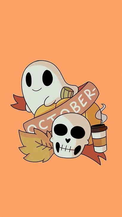 Halloween Aesthetic Iphone Spooky Wallpapers Backgrounds Ghost