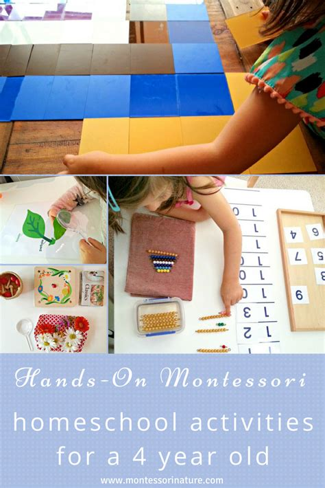 on montessori homeschool activities for a 4 year