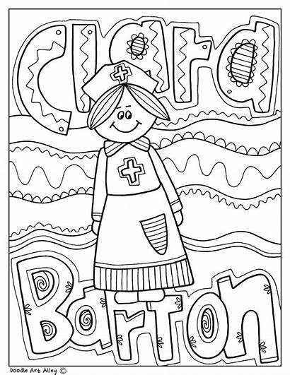 Clara Barton History Month Doodles Classroom Classroomdoodles