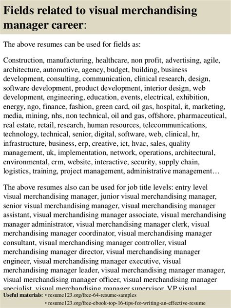Visual Merchandising Manager Resume Objective by Top 8 Visual Merchandising Manager Resume Sles