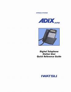 Download Free Pdf For Iwatsu Adix Vs Telephone Manual