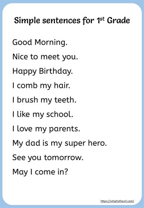 simple sentences  grade   home teacher