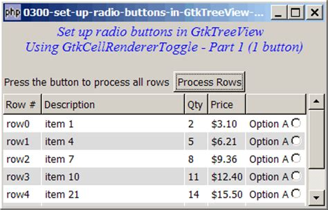 300 how to up radio buttons in gtktreeview using gtkcellrenderertoggle part 1 one radio