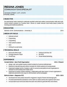 Create A Free Resume Online Communications Specialist Resume Example