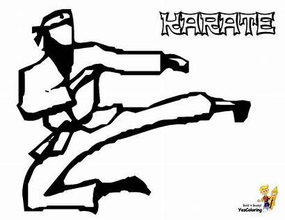 Coloring Pages Karate Sports Boys Kid Kick