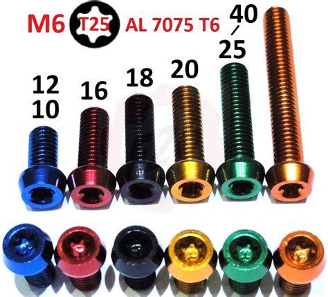 m6 schraube maße alu m6 torx t25 schraube 7075 din912 alloy bolt 10 12 16 18 20 25 30 35 40 tune ebay