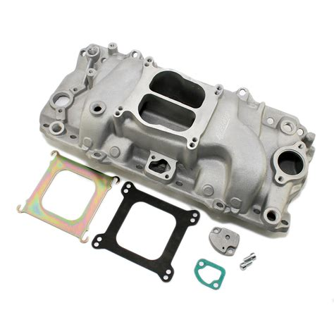 chevy big block oval port satin intake manifold assault