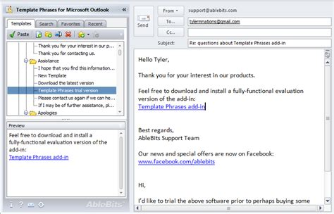 microsoft outlook templates shareware4u kategorie kommunikation sonstige e mail tools