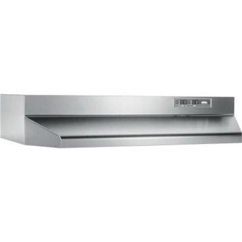 kitchen hood fan home depot broan 40000 series 24 in range hood in stainless steel