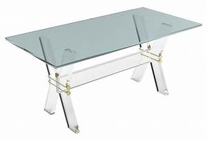 xavier coffee table small acrylic from one kings lane With small lucite coffee table