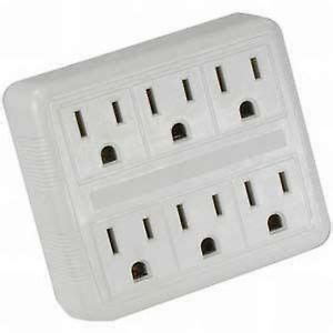 l post electrical outlet 6 way electrical outlet wall plug power strip ul listed