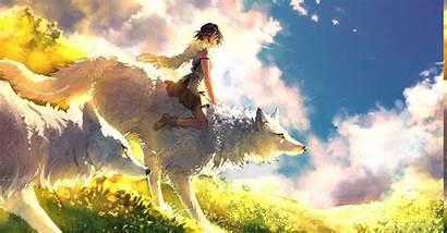 Mononoke Wolf Anime Princess Wallpapers Ghibli Backgrounds