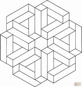 Optical Illusion 12 Coloring Page Free Printable