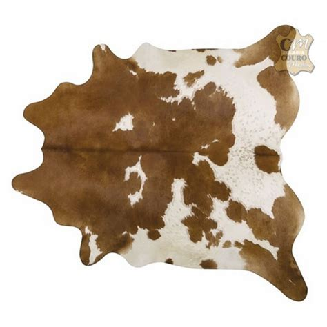 What Is Cowhide by Tapete De Couro Marrom Branco