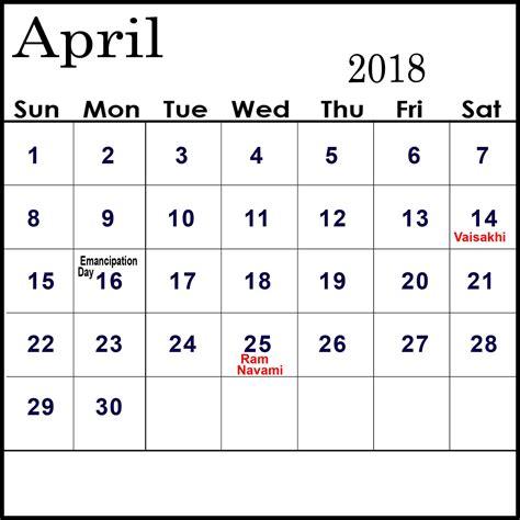 april  calendar  holidays  usa uk canada india