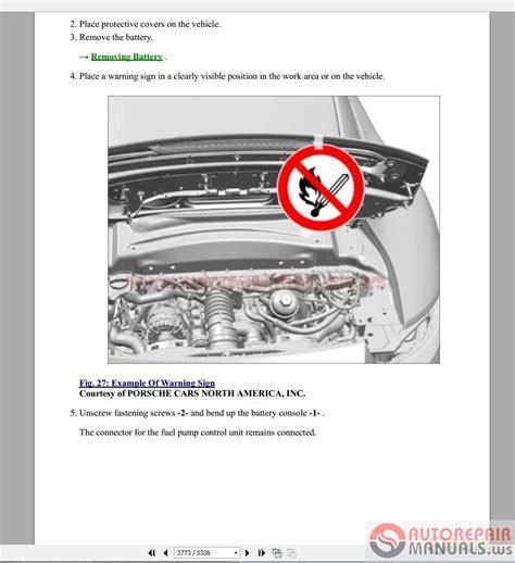 free auto repair manuals 2010 porsche boxster head up display porsche 991 2011 2015 service repair workshop manual auto repair manual forum heavy