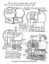 Drawing Worksheets Draw Printable Gypsy Wagon Door Worksheet Young Artist Step Wooden Sketching Lessons Gondola Easy Drawings Arched Getdrawings Bloglovin sketch template