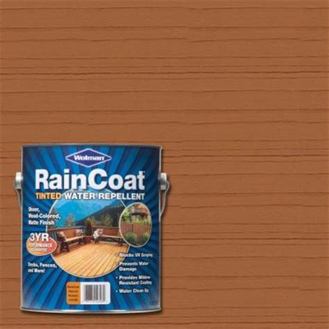 Wolman Raincoat Deck Stain by Wolman 1 Gal Raincoat Tinted Hickory Water