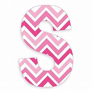 Stupell Industries Tri-Pink Chevron 18-Inch Hanging Letter