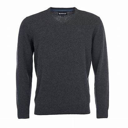 Jumper Neck Essential Lambswool Barbour Mens Knitwear