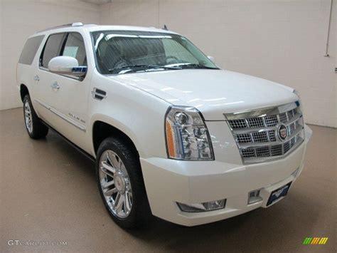 2014 White Diamond Tricoat Cadillac Escalade Esv Platinum