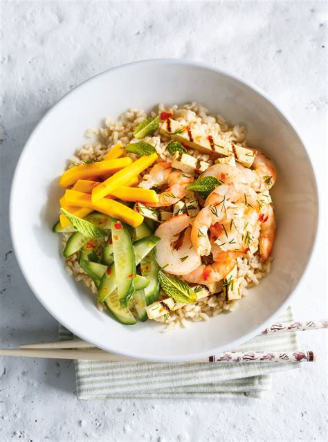 ricardo cuisine com grilled shrimp and tofu rice bowls ricardo