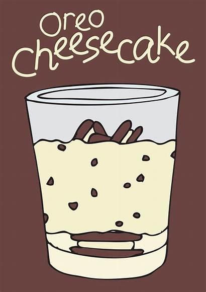 Oreo Cheesecake Drawing