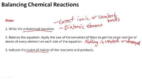 Balancing Chemical Equations  Ck12 Foundation