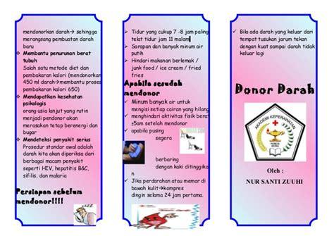 Telat Haid Hamil Leaflet Donor Darah Akper Pemda Muna