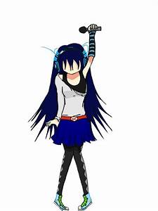 Anime girl singing, digital by StarAle on DeviantArt