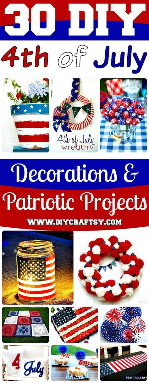 4th of july decorations diy 30 diy 4th of july decorations patriotic diy fourth of july decor projects