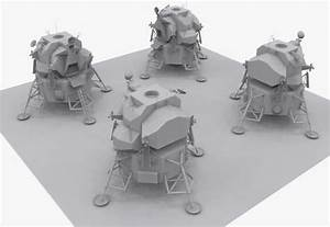 Apollo Lunar Module 3D Model Game ready .obj .3ds ...