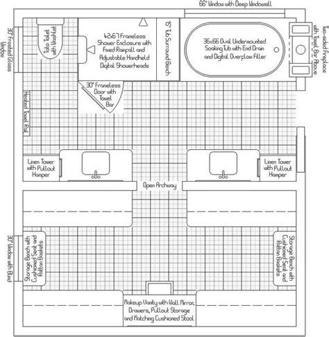 master bath plans master bathcloset layout