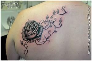 Tatouage De Rose : tatouage rose arabesque cochese tattoo ~ Melissatoandfro.com Idées de Décoration